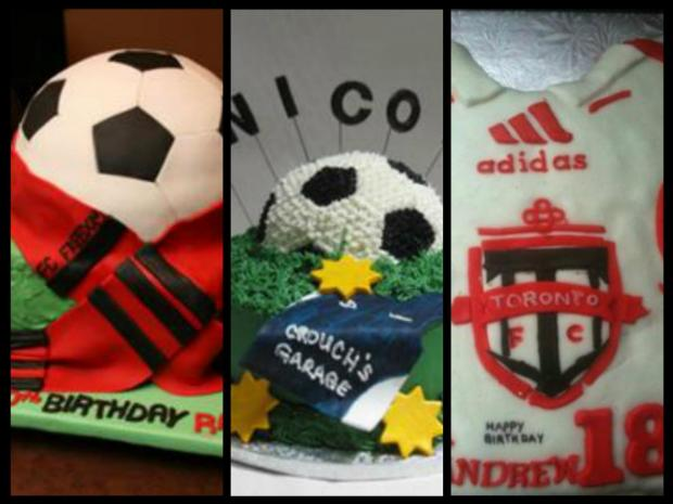 soccer cakes collection