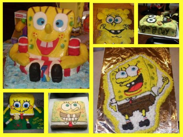 collection of spongebob cakes
