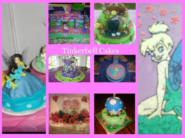 collection of 10 Tinkerbell Cakes