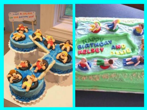 water park cakes