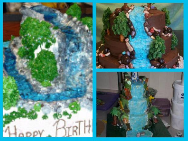 collection of waterfall cakes