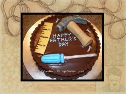 Father's Day Cake with tools