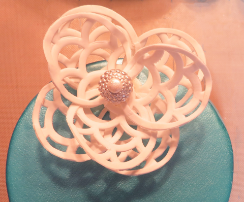 gum paste lace flower