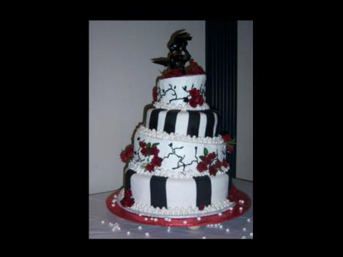 quoth the raven evermore wedding cake
