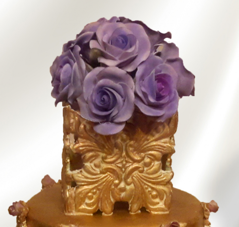 Floral acanthus leaf cake topper for Acanthus decoration
