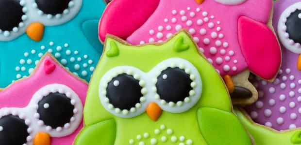 royal icing recipe on owl cookies