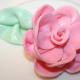 Fondant Ribbon Rose and Leaf
