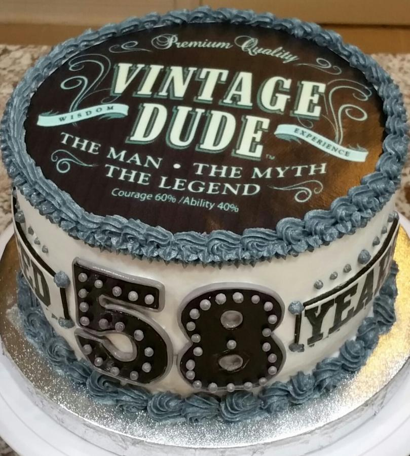 Vintage Dude Birthday Cake Httpcake Decorating Corner