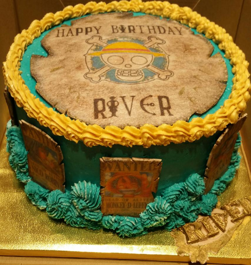 Anime One Piece Pirates Birthday Cake Httpcake Decorating
