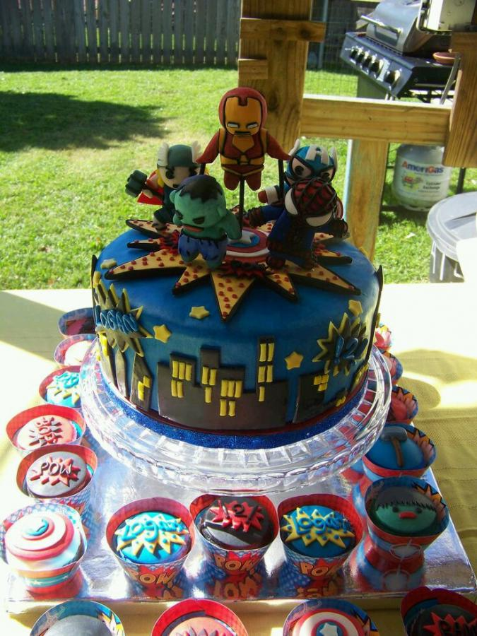 Little Marvel Superheroes Birthday Cake Cupcakes Http