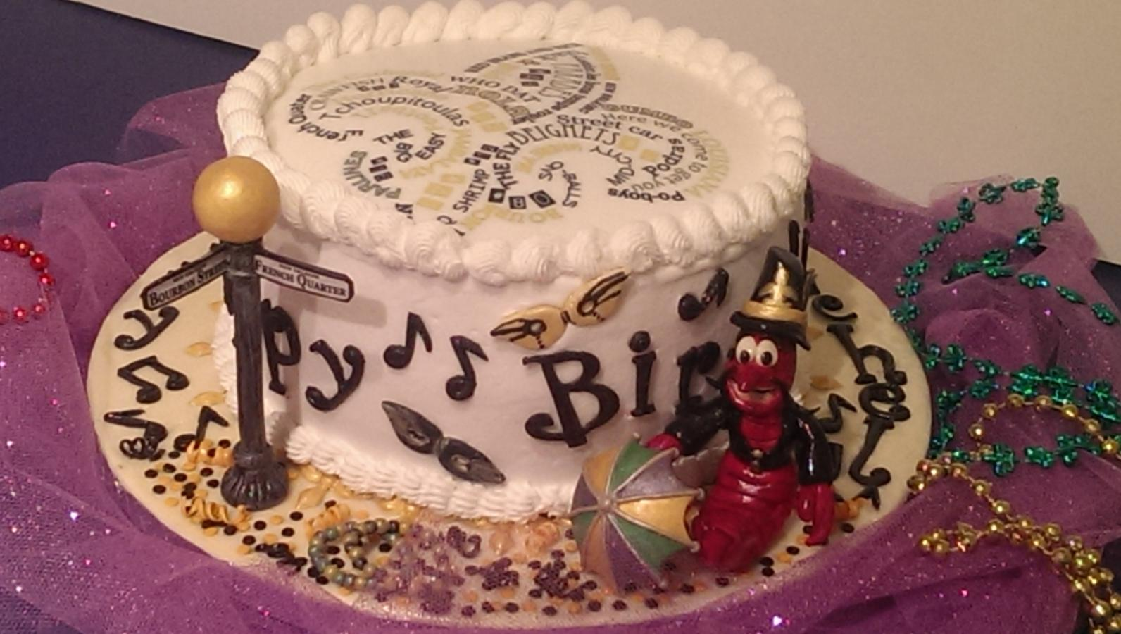 Happy Birthday And All That Jazz New Orleans Themed Cake