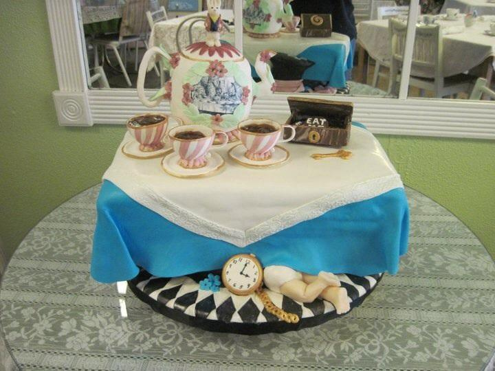 Mad Hatter Tea Party Baby Shower Cake