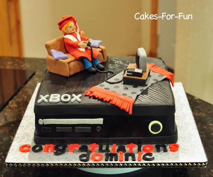 Graduation Cake For Gamer