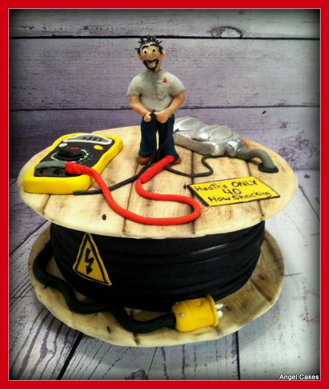 40th Birthday cake for Electrician httpwwwcakedecorating
