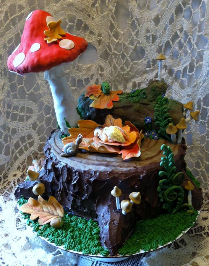 Woodland Fairy Baby Shower Cake Http Www Cake