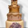Painted Floral swag cake