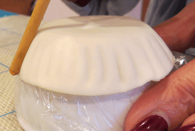 gum paste Corningware